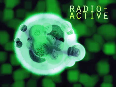 Radioactive Hulk Organic Cell with Text Stock Photo - 3484516