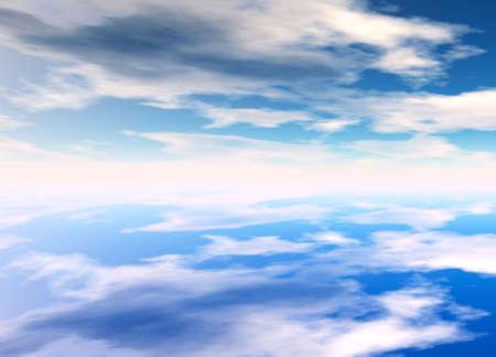 3d Rendered Distant Skyscape Horizon