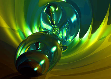 Green Glowing Glass Modern abstract background pattern illustration
