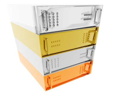 vpn: Gold Silver Bronze Glass Diamond Server Rack Hosting on White