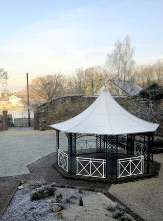 entertaining area: Bandstand Building in Winter Courtyard Scene