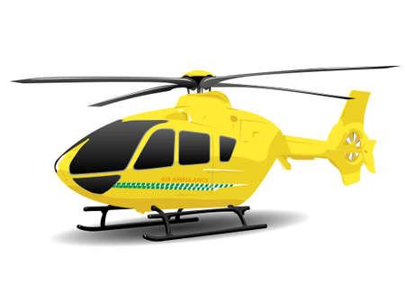 Yellow Air Ambulance Illustration over White illustration