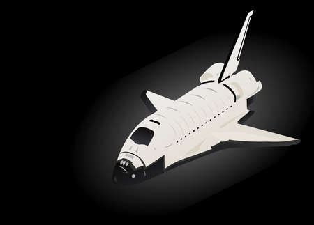 endeavor: Space Shuttle 3d View in Black Space
