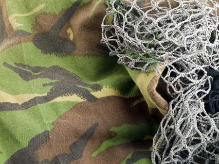 Green British DPM Camouflage and Netting