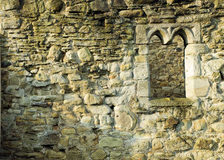 Old Monastary Brick Stone Wall with Window photo