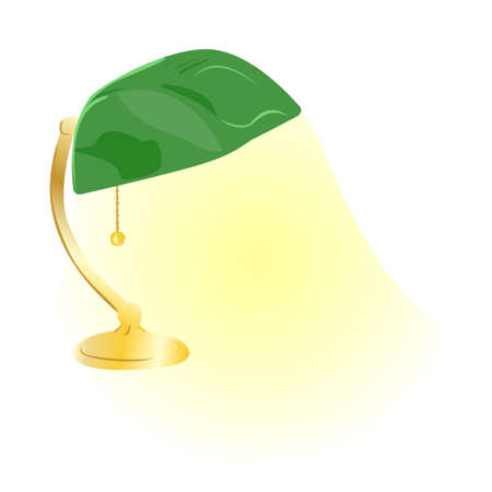 Vector Green Bankers Lamp photo