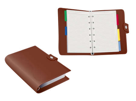 appointment book: Two 3d Vector Leather  Stock Photo