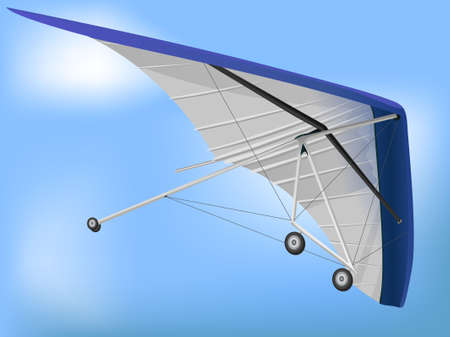 aerodynamics: 3d Hanglider Paragliding Wing in Perspective