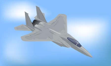 Generic Fighter Jet Illustration Stock Illustration - 5039339
