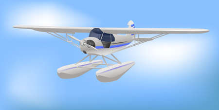 Small White Light Commercial Aircraft Illustration