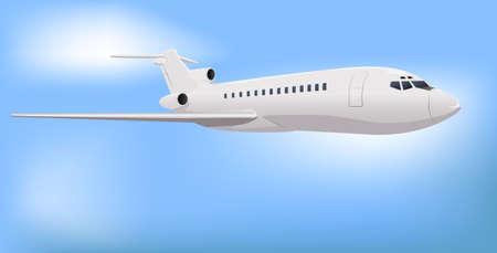 Private Commercial Jet Illustration