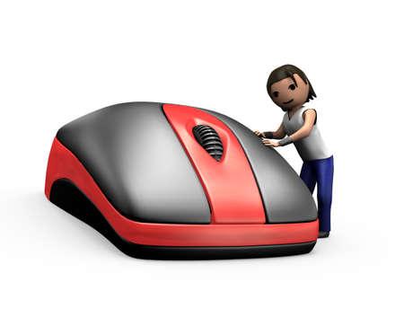 3D Render of Young Guy durch Klicken auf PC Maus