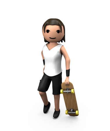 GuyWithSkateboard1 (0) .jpg Standard-Bild