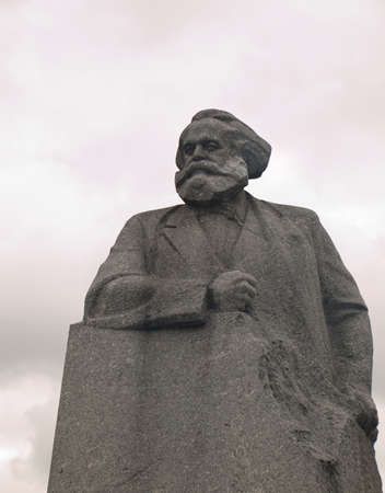 Statue of Karl Marx in Revolution Square Moscow Russia Stock Photo