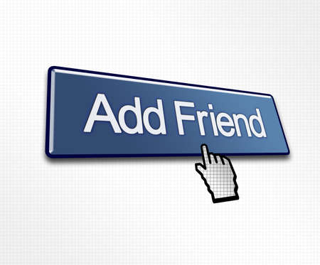 clicked: Clicked Add Friend Button Illustration for Social Media