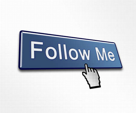 clicked: Clicked Follow Me Button Illustration for Social Media