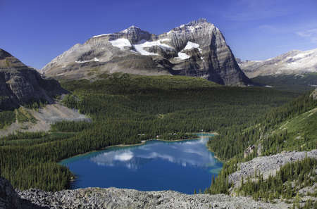 british  columbia: Lake O Hara, British Columbia Stock Photo