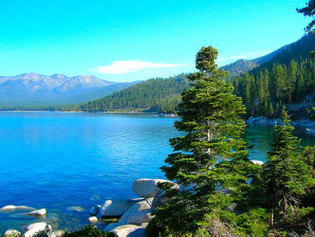 Morning on lake Tahoe