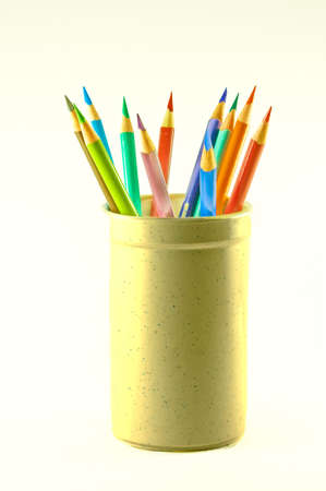 Cup of Colored Pencils Stok Fotoğraf