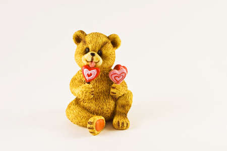 Valentines Teddy Bear with Lolipops