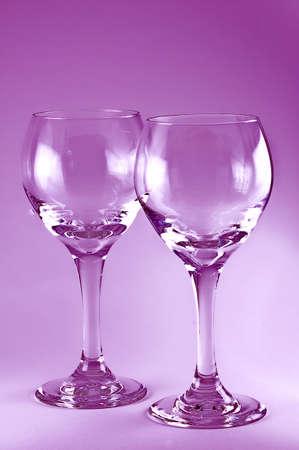 Wine Glass with a Glow Stok Fotoğraf