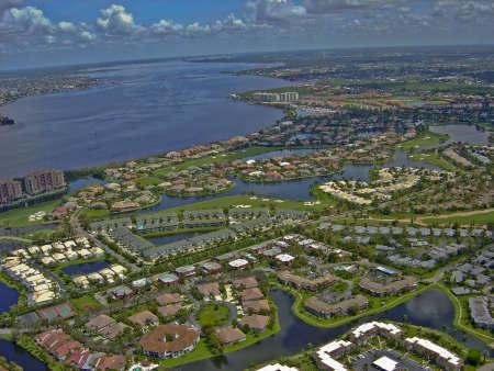 Aerial of Florida Coast Stok Fotoğraf