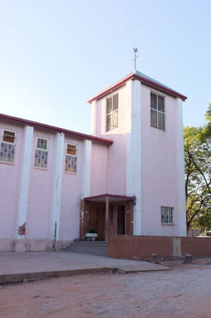 other keywords: Old Church building, Namibia, Africa Stock Photo
