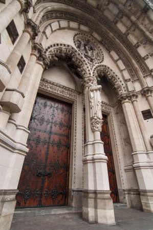 Doors of New York City cathedral St. John the Divine, New York Stock Photo