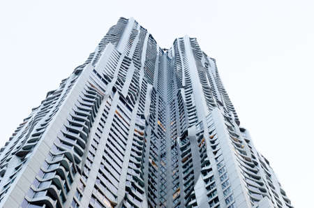 frank   gehry: Close up detail of Beekman Tower (8 Spruce Street) by Frank Gehry, New York Editorial