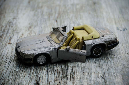 artificial model: In the old days, old toy car