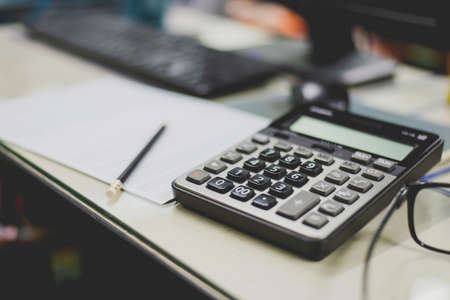 financial accounting and calculation on office