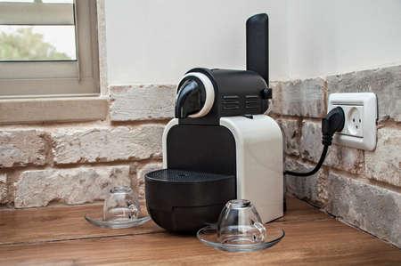 stimulating: Nespresso machine on the table