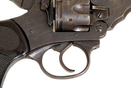 トリガー: いにしえの銃。弾薬ストレージとトリガー 写真素材