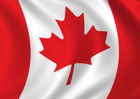 High resolution computer generated Canada flag. Stock Photo - 929901