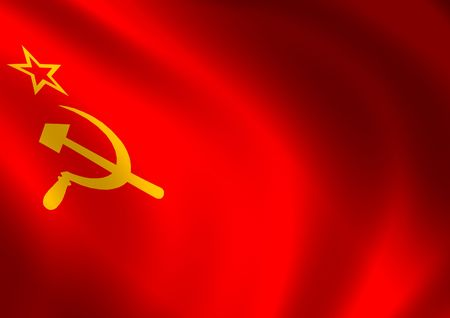 soviet: Computer generated high resolution USSR flag.