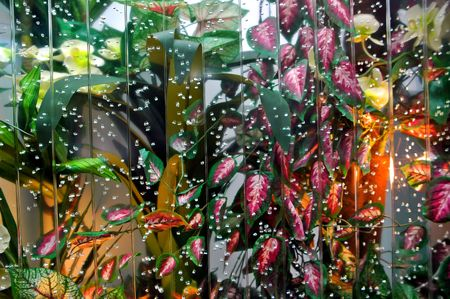 Decoration with water wall photo