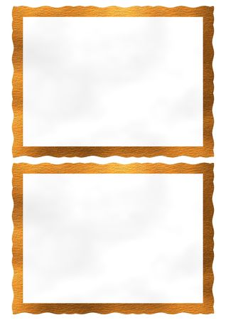 Orange picture frames ready tou your pictures. High resolution.