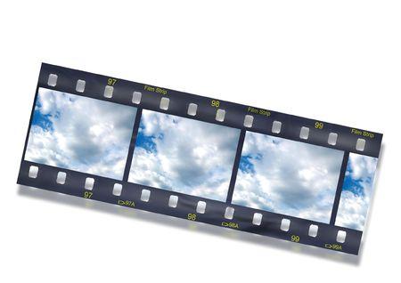 35: cinta de la pel�cula de 35 mil�metros. Concepto an�logo de la fotograf�a. Foto de archivo