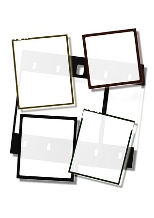 Various film frames. 35mm and midle formats. Stock Photo