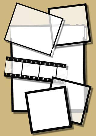 undressing: various film frames. 35mm and midle format slides.