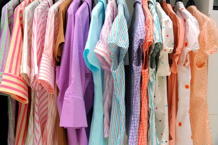 Womans blouses in store. Stock Photo