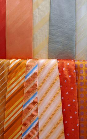 Various necktie in store. Stock Photo
