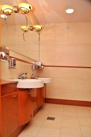 Entry of luxury bathroom.Modern style.