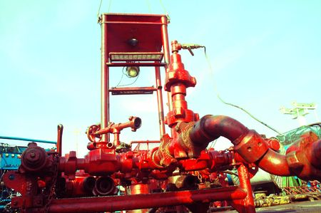 offshore pipe oil drilling photo
