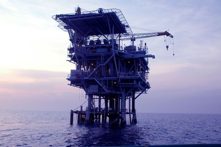 well platform: offshore oil drilling