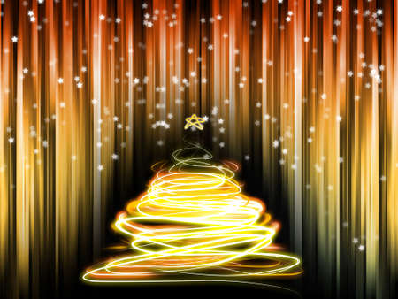 A abstract background with a christmastree Stock Photo
