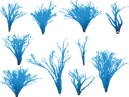 Some blue fantasy trees