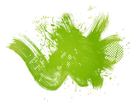 Green abstract illustration