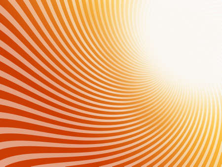 Abstract lines on red  orange background
