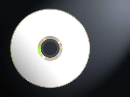 gigabyte: Blank disc (CD  DVD) on dark background